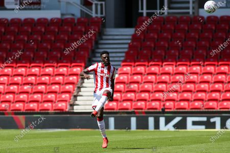 Bruno Martins Indi of Stoke City (15) during the EFL Sky Bet Championship match between Stoke City and Birmingham City at the Bet365 Stadium, Stoke-on-Trent