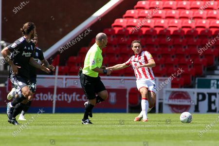 James Chester of Stoke City (12) during the EFL Sky Bet Championship match between Stoke City and Birmingham City at the Bet365 Stadium, Stoke-on-Trent