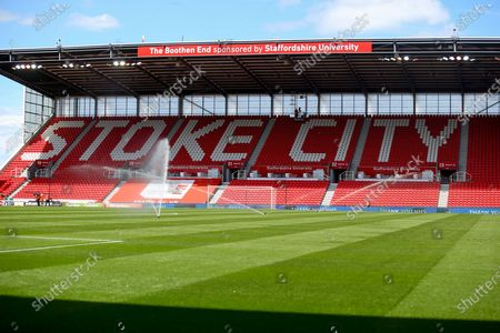 Grouns view just before kick off during the EFL Sky Bet Championship match between Stoke City and Birmingham City at the Bet365 Stadium, Stoke-on-Trent