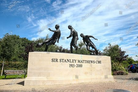 Sir Stanley Matthews Statue during the EFL Sky Bet Championship match between Stoke City and Birmingham City at the Bet365 Stadium, Stoke-on-Trent