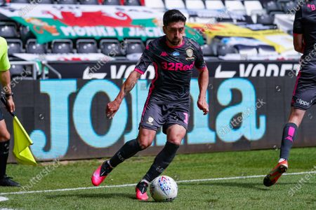 Leeds United midfielder Pablo Hernandez (19) in action during the EFL Sky Bet Championship match between Swansea City and Leeds United at the Liberty Stadium, Swansea