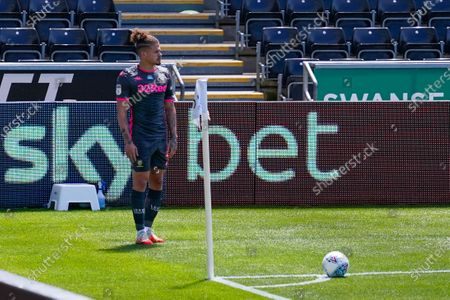 Leeds United midfielder Kalvin Phillips (23) during the EFL Sky Bet Championship match between Swansea City and Leeds United at the Liberty Stadium, Swansea