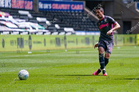 Leeds United midfielder Pablo Hernandez (19) during the EFL Sky Bet Championship match between Swansea City and Leeds United at the Liberty Stadium, Swansea