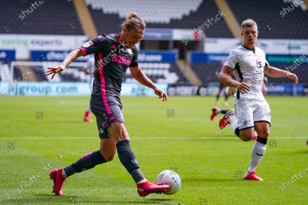 Leeds United defender Luke Ayling (2) during the EFL Sky Bet Championship match between Swansea City and Leeds United at the Liberty Stadium, Swansea