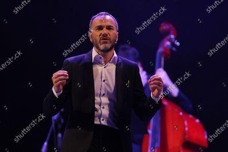 Editorial picture of Massimiliano Gallo in concert, Campania, Napoli, Italy - 11 Jul 2020