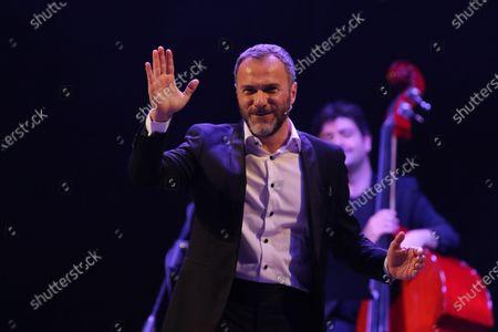 Editorial image of Massimiliano Gallo in concert, Campania, Napoli, Italy - 11 Jul 2020