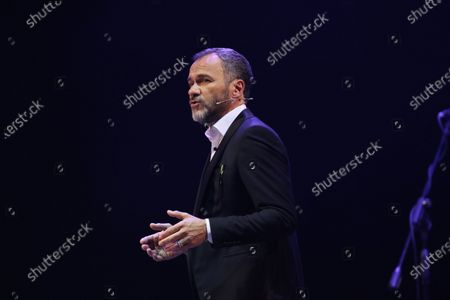 """Stock Image of Massimiliano Gallo during the show titled """"Resilienza 2.0"""""""