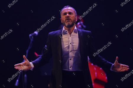 Editorial photo of Massimiliano Gallo in concert, Campania, Napoli, Italy - 11 Jul 2020