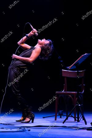 "Stock Picture of The duo Petra Magoni and Ferruccio Spinelli. The performance went from Pop/Rock music classics such as Roxanne of the Police to lyrical areas such as ""Nessun dorma"" by Giacomo Puccini. Guest of the duo the singer Chiara Civello."