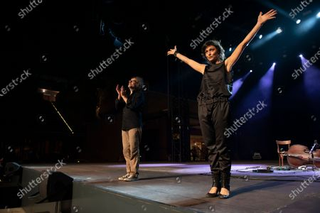 Editorial photo of Petra Magoni and Ferruccio Spinelli in concert, Cavea of the Auditorium Parco della Musica, Rome, Italy - 10 Jul 2020