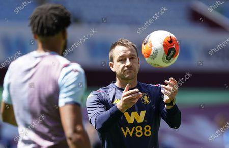 Aston Villa's assistant manager John Terry (R) ahead of the English Premier League soccer match between Aston Villa and Crystal Palace in Birmingham, Britain, 12 July 2020.