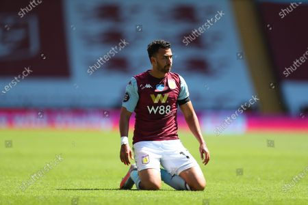 Trezeguet of Aston Villa reacts during the English Premier League soccer match between Aston Villa and Crystal Palace in Birmingham, Britain, 12 July 2020.