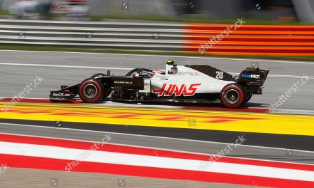 Haas driver Kevin Magnussen of Denmark steers his car during the Styrian Formula One Grand Prix at the Red Bull Ring racetrack in Spielberg, Austria, Sunday, July 12, 2020. (AP Photo/Darko Bandic, Pool)