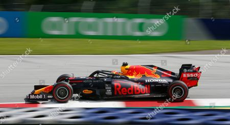 Red Bull driver Max Verstappen of the Netherlands steers his car during the Styrian Formula One Grand Prix at the Red Bull Ring racetrack in Spielberg, Austria, Sunday, July 12, 2020. (AP Photo/Darko Bandic, Pool)