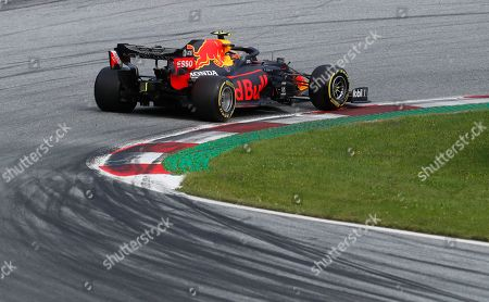 Red Bull driver Alexander Albon of Thailand steers his car during the Styrian Formula One Grand Prix at the Red Bull Ring racetrack in Spielberg, Austria, Sunday, July 12, 2020. (AP Photo/Darko Bandic, Pool)