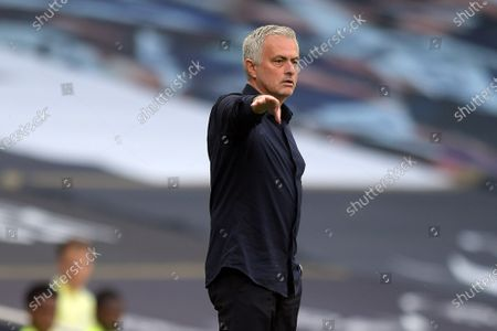 Jose Mourinho Manager of Tottenham Hotspur during the Tottenham Hotspur vs Arsenal Premier League Football match at the Tottenham Hotspur Stadium on 12th July 2020