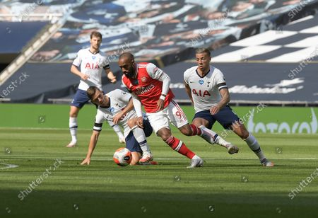 Image éditoriale de Tottenham Hotspur vs Arsenal, Premier League Football at the Tottenham Hotspur Stadium,, Tottenham Hotspur Stadium, London, UK - 12 Jul 2020