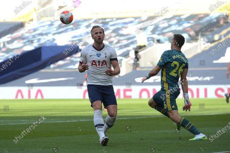 Photo éditoriale de Tottenham Hotspur vs Arsenal, Premier League Football at the Tottenham Hotspur Stadium,, Tottenham Hotspur Stadium, London, UK - 12 Jul 2020