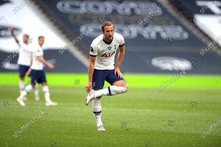 Harry Kane of Tottenham Hotspur during the Tottenham Hotspur vs Arsenal Premier League Football match at the Tottenham Hotspur Stadium on 12th July 2020