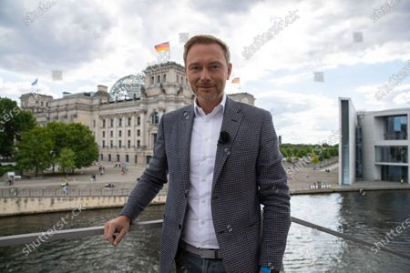 Leader of German Free Democratic Party Christian Lindner attends the traditional summer interview of the television show 'Report from Berlin' of German station ARD, in Berlin, Germany, 12 July 2020.