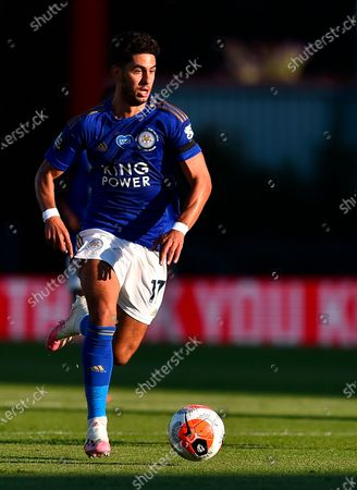 Leicester's Ayoze Perez in action match between AFC Bournemouth and Leicester City in Bournemouth, Britain, 12 July 2020.