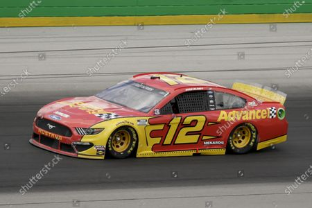 Ryan Blaney (12) drives during a NASCAR Cup Series auto race, in Sparta, Ky