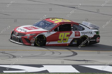 Christopher Bell (95) drives during a NASCAR Cup Series auto race, in Sparta, Ky