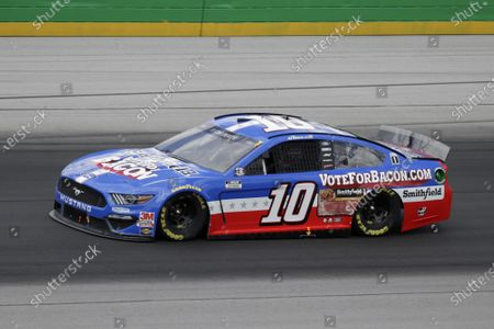 Aric Almirola (10) drives during a NASCAR Cup Series auto race, in Sparta, Ky