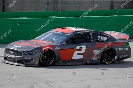 Brad Keselowski (2) drives during a NASCAR Cup Series auto race, in Sparta, Ky