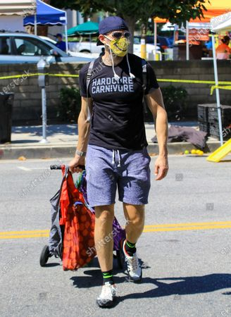 Joel Mchale out and about, Los Angeles
