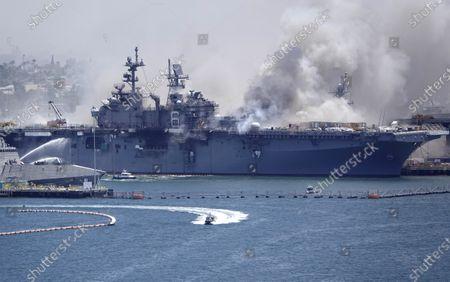 Fire aboard the USS Bonhomme Richard, San Diego