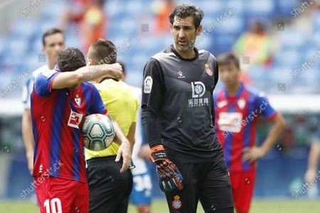 "Diego Lopez (Espanyol) - Football / Soccer : Spanish Primera Division ""Liga Santander"" match between RCD Espanyol 0-2 SD Eibar at RCDE Stadium in Cornella Llobregat, Spain."