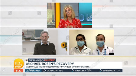Stock Image of Kate Garraway, Michael Rosen, Nurses