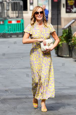 Image éditoriale de Amanda Holden out and about, London, UK - 13 July 2020