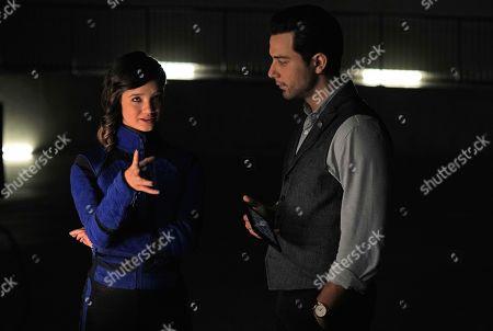 Peyton Elizabeth Lee as Sam and Skylar Astin as Professor James Morrow