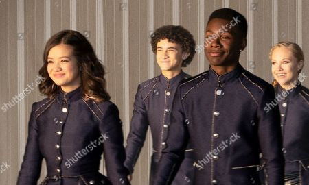Stock Image of Peyton Elizabeth Lee as Sam, Faly Rakotohavana as Matteo, Niles Fitch as Tuma and Olivia Deeble as Princess Roxana