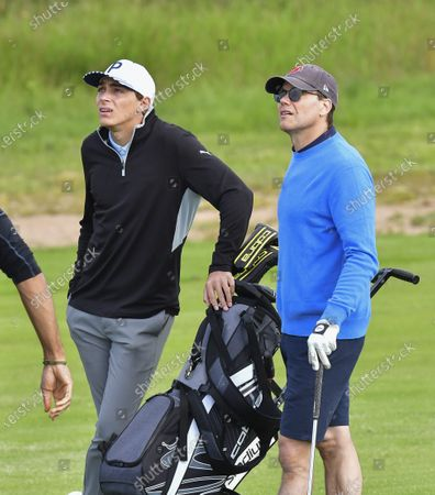 Prince Daniel plays together with pole vaulter Armand Duplantis in the Victoria golf tournament at Ekerum golf resort