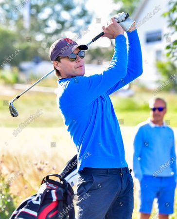 Prince Daniel plays in the Victoria golf tournament at Ekerum golf resort