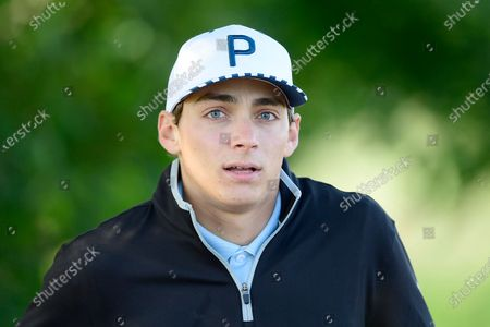 Pole vaulter Armand Duplantis plays in the Victoria golf tournament at Ekerum golf resort