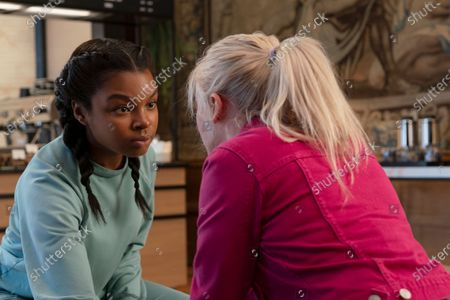 Stock Picture of Yasmin Monet Prince as Clara Mahan/Girl 249 and Aine Rose Daly as Sandy Phillips/Girl 242