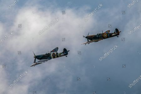 Editorial picture of Vera Lynn funeral Flypast, Lincolnshire, UK - 10 Jul 2020