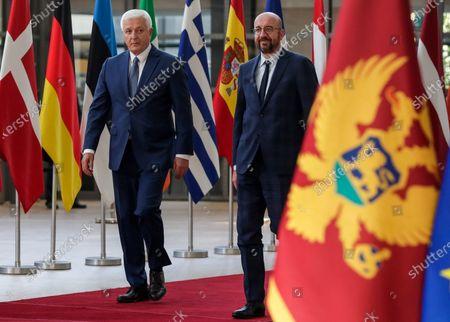 Editorial picture of Montenegrin Prime Minister Dusko Markovic in Brussels, Belgium - 13 Jul 2020