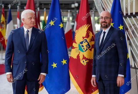 Editorial image of Montenegrin Prime Minister Dusko Markovic in Brussels, Belgium - 13 Jul 2020