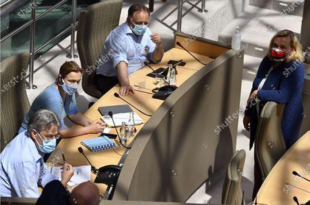 Editorial image of Politics Flemish Parliament Ad Hoc Commission Corona, Brussels, Belgium - 08 Jul 2020