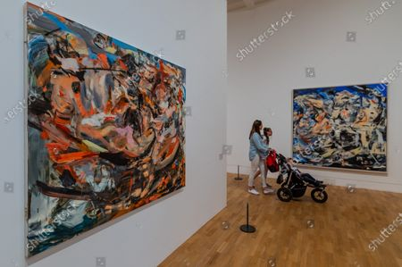 Works by Cecily Brown inclThe Last Shipwreck, 2018, in Radical Figures - Whitechapel Gallery reopens to the public on 14 July 2020 (after the easing of Coronavirus, covid 19, lockdown restrictions) with new Health & Safety measures in place to prioritise the welfare of staff and visitors. The spring exhibition programme, including Radical Figures: Painting in the New Millennium will be extended through the summer. In line with guidance from Public Health England, the gallery has put the following measures in place, ensuring the exhibitions and displays can be enjoyed in a safe and accessible way - Timed entry will be in place so visitors must book in advance via the online booking system; There will be one entrance and one exit to allow one-way systems around the gallery; Visitors will be encouraged to respect social distancing with floor markings and to wear gloves and face masks when in the building; Front of house staff will wear Personal Protective Equipment (PPE); Hand sanitisers will be situated around the building and regular additional cleaning will take place throughout the building.