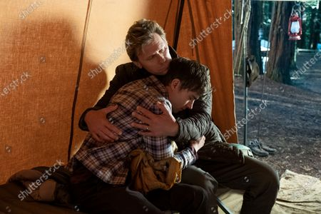 Stock Picture of Miles Heizer as Alex Standall and Mark Pellegrino as Deputy Bill Standall