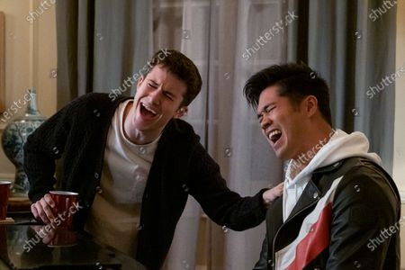 Dylan Minnette as Clay Jensen and Ross Butler as Zach Dempsey