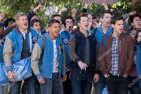 Stock Photo of Austin Aaron as Luke Holliday, Jan Luis Castellanos as Diego Torres, Tyler Barnhardt as Charlie St. George and Brandon Flynn as Justin Foley