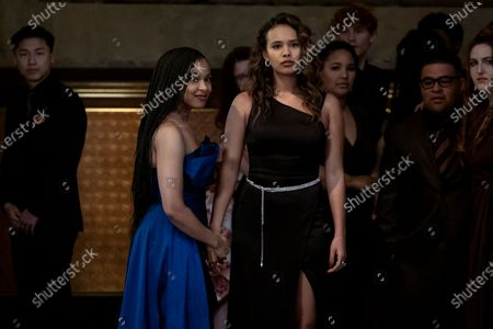 Stock Image of Grace Saif as Ani Achola and Alisha Boe as Jessica Davis
