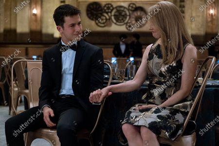 Dylan Minnette as Clay Jensen and Amy Hargreaves as Mrs. Lainie Jensen